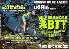 La X Marcha de BTT 'Medina Cauria' tendrá lugar en Coria (Cáceres) el 29 de enero