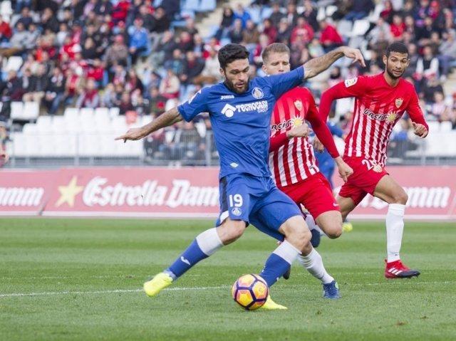 Jorge Molina en el Almería-Getafe