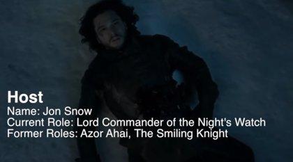 VÍDEO: Jon Snow muere y resucita en este mash-up de Juego de tronos y Westworld