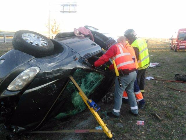 Accidente de tráfico en Cascante