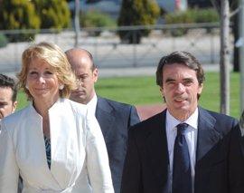 """Esperanza Aguirre asegura que """"Aznar nunca irá contra el PP, ni el PP irá contra Aznar"""""""