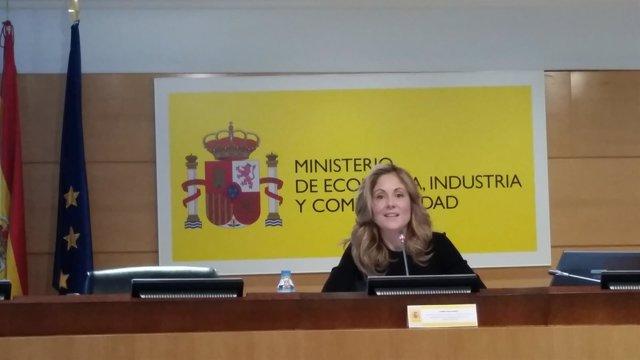 La directora del Tesoro Público, Emma Navarro