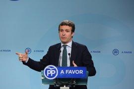 """Casado dice que Aznar no tiene ningún proyecto de nuevo partido porque el PP """"es su casa"""""""