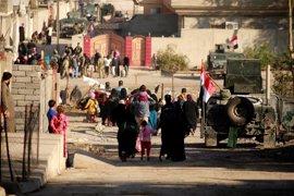 Irak eleva a 169.000 los desplazados desde el inicio de la ofensiva en Mosul