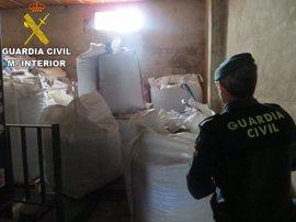 Sucesos.- La Guardia Civil desmantela un grupo dedicado a robar almendras en almacenes de Los Serranos