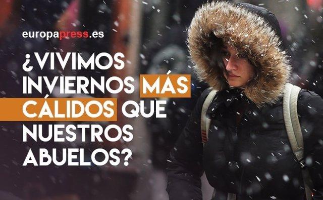 Vivimos inviernos más cálidos que nuestros abuelos