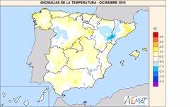Diciembre de 2016 ha sido entre cálido y muy cálido en gran parte de Galicia