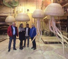 Cinco medusas 'falleras' presidirán el stand del Oceanogràfic de Valencia en Fitur