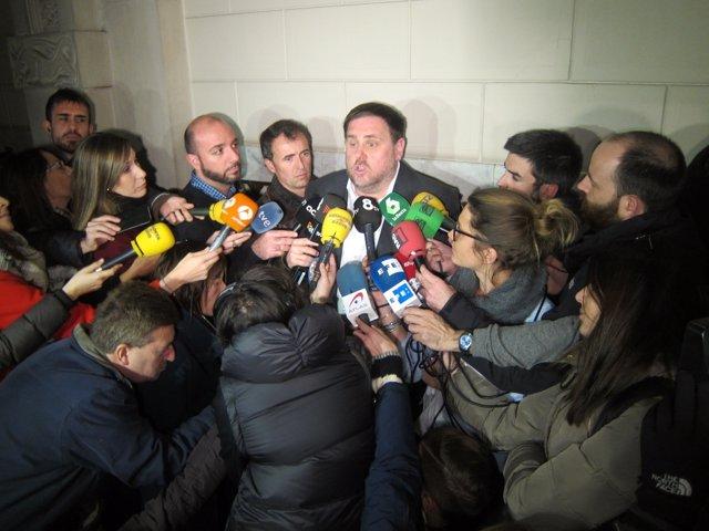 El vicepresidente del Govern, Oriol Junqueras