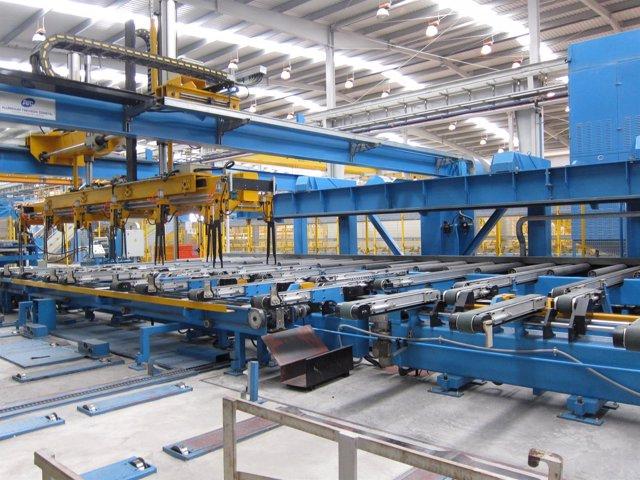 Máquinas de una fábrica.