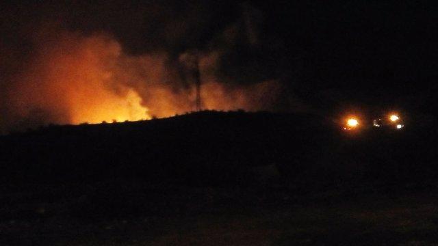 Imagen del incendio declarado en Cieza