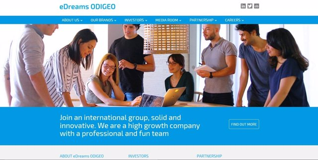 Nueva Web eDreams Odigeo