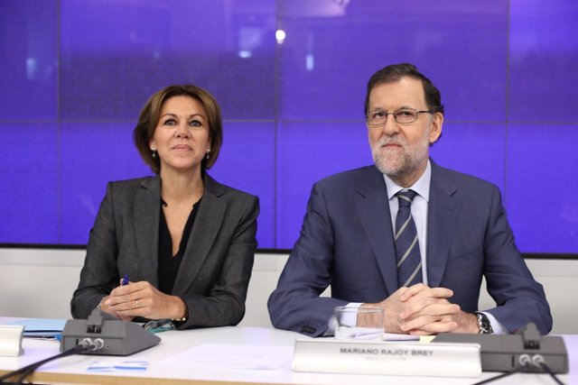 Mariano Rajoy y Cospedal en la Junta Directiva Nacional del PP