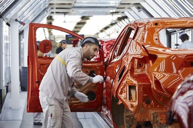 Producción del Nissan Micra en Flins (Francia)