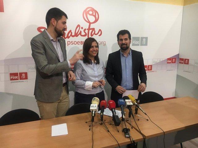 Tudanca en Burgos con David Jurado y Esther Peña