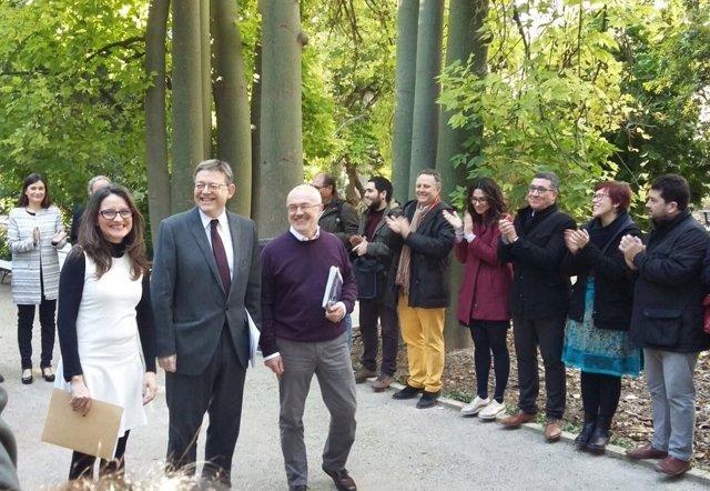 Oltra, Puig y Montiel acuden a la firma de la ampliación del Acord del Botànic
