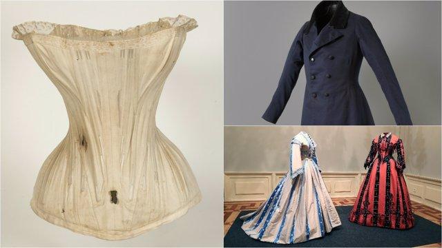 Prendas del siglo XIX en el Museo del Romanticismo de Madrid