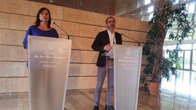 Francina Armengol y Biel Barceló