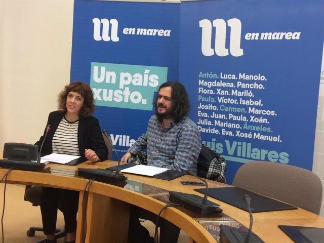 Rueda de prensa de En Marea en el Parlamento.