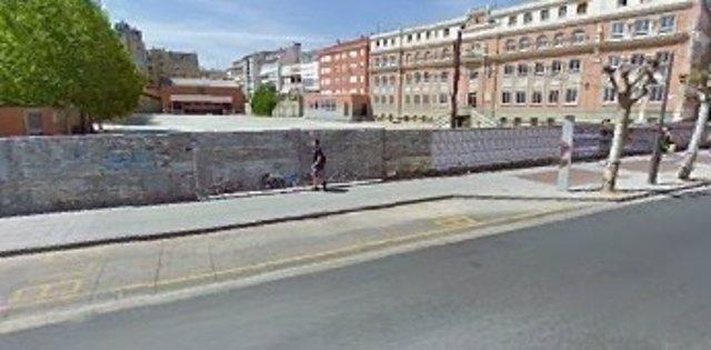 Imagen del solar del antiguo colegio Maristas en Logroño