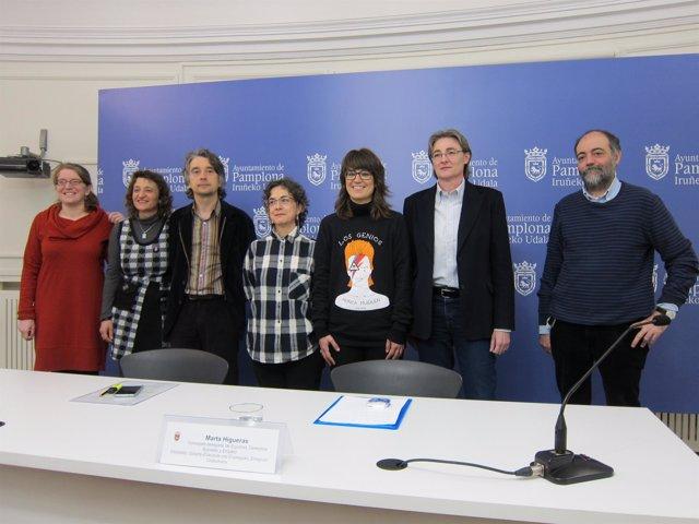 Representantes de los ayuntamientos de Madrid y Pamplona