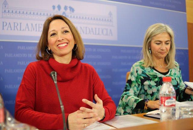 Las parlamentarias del PP-A Patricia Navarro y Patricia del Pozo