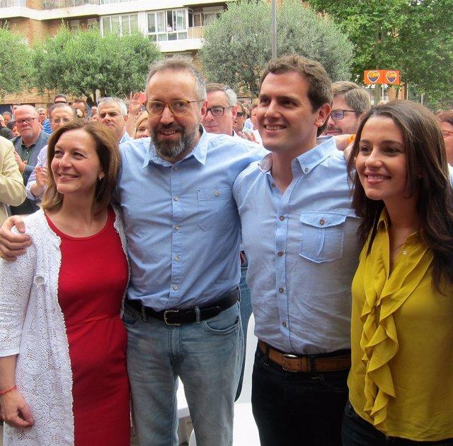 Albert Rivera, Juan Carlos Girauta, Inés Arrimadas y Carina Mejías (C's)
