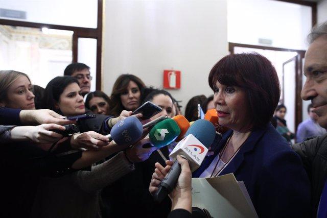 Micaela Navarro hace declaraciones en el Congreso