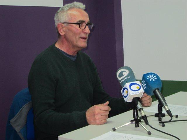 Diego Cañamero durante la rueda de prensa