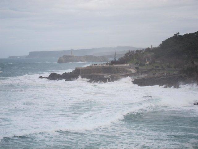 Oleaje en Santander