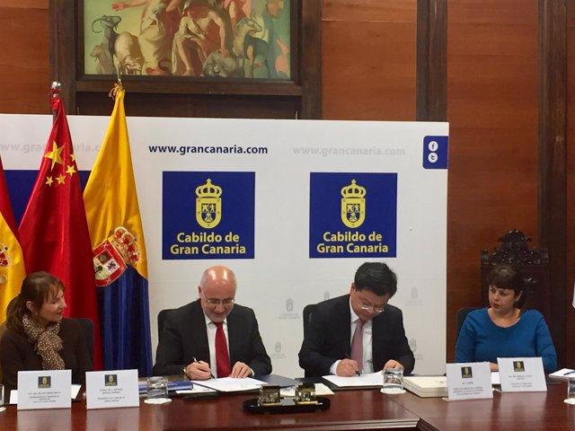El Cabildo de Gran Canaria y la ciudad china de Chengdu estrechan lazos