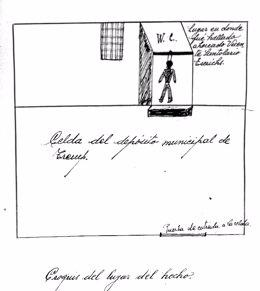 Documento de la autopsia a un cuerpo recuperado de una fosa de la Guerra Civil