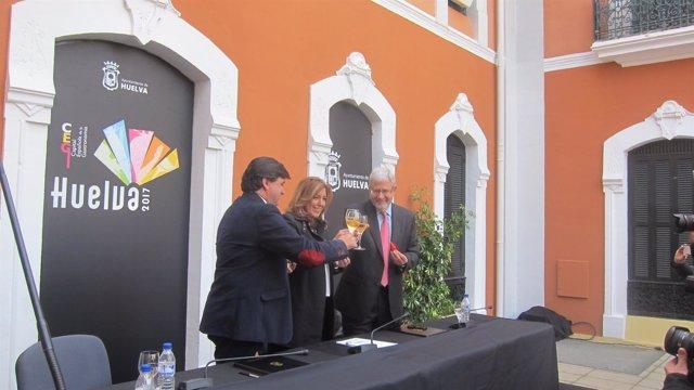 La presidenta de la Junta de Andalucía, Susana Díaz, en Huelva.
