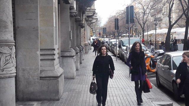 La vpta.Soraya Sáenz de Santamaría, en Barcelona