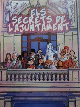 Imagen de la portada del comic de Camacuc sobre el Ayuntamiento de Valencia