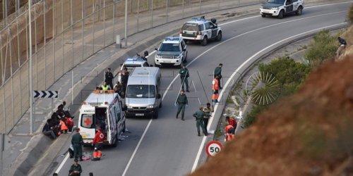 Entrada de inmigrantes en Ceuta.