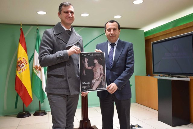 Alberto Pérez alcalde de Algarrobo y el delegado de la Junta en Málaga, Ruiz Esp