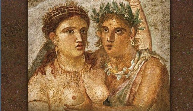 """Fragmento del cartel anunciador de la exposición """"El sexe en època romana"""""""