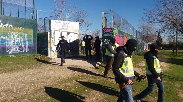 Yihadistas detenidos en Madrid 28-12