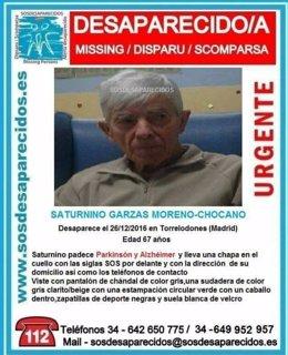 Desaparecido anciano en Torrelodones