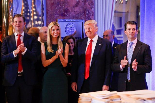 Donald Trump y sus hijos