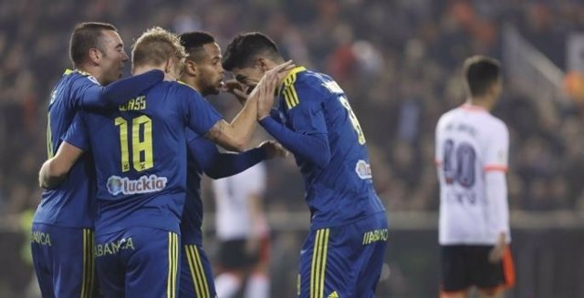 El Celta gana al Valencia en Copa del Rey