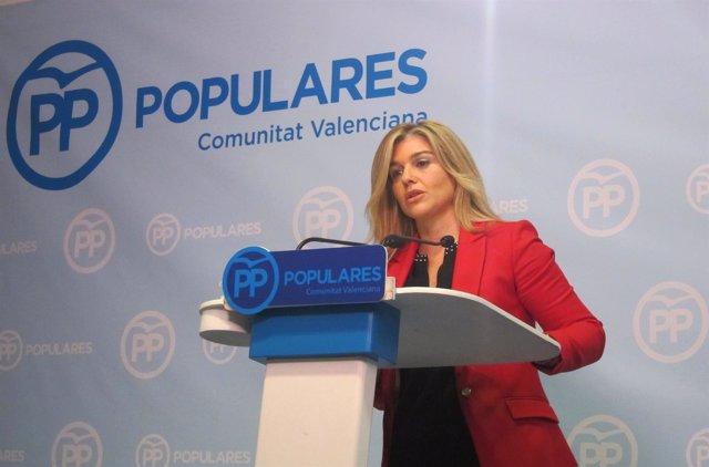 Eva Ortiz (PPCV)  en una rueda de prensa