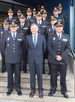 Moragues visita la Jefatura Superior de Policía