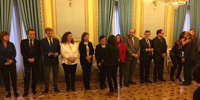 María José Beaumont en reunión prepataroria de Conferencia de Presidentes.