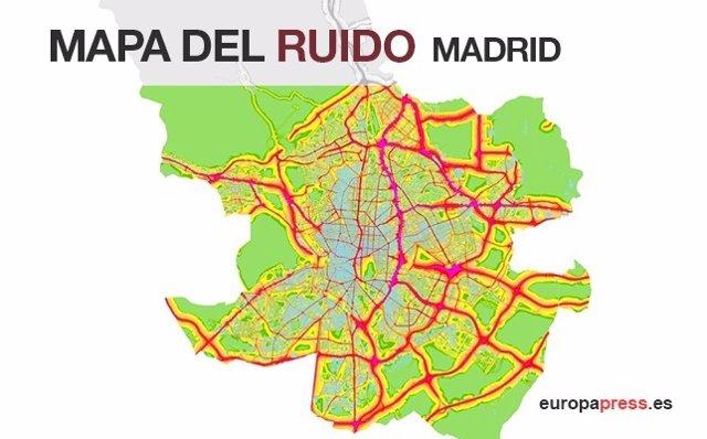 Mapa del ruido de Madrid