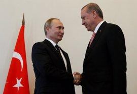 Erdogan y Putin analizan por teléfono la evolución del acuerdo sirio