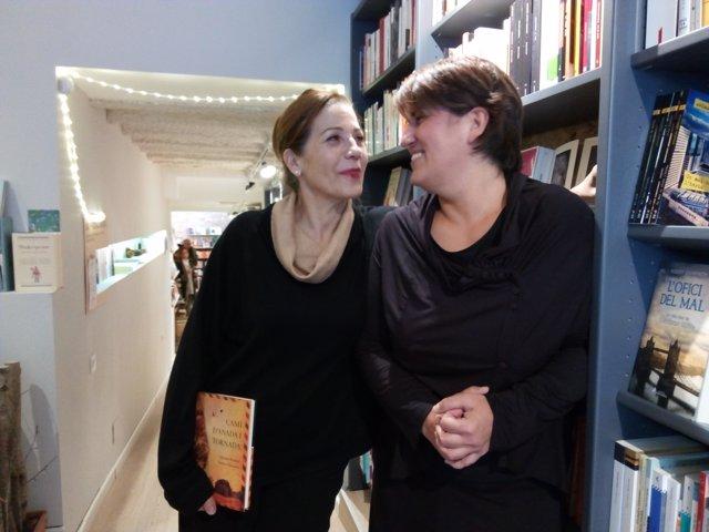 Emma Vilarasau y Montse Barderi en la presentación de 'Camí d'anada i tornada'
