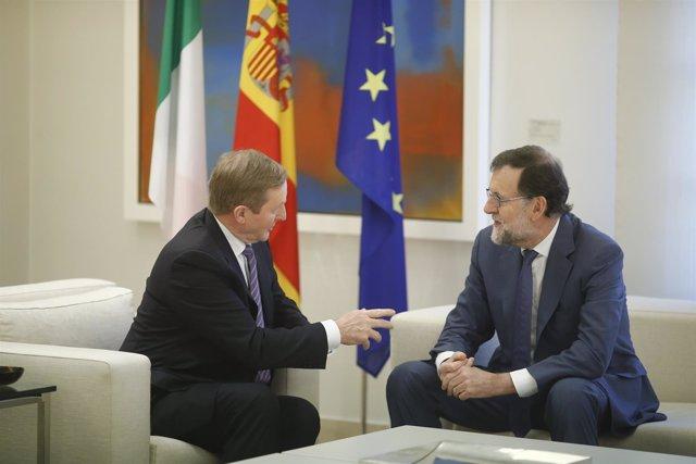 Rajoy recibe en La Moncloa al primer ministro de Irlanda, Enda Kenny