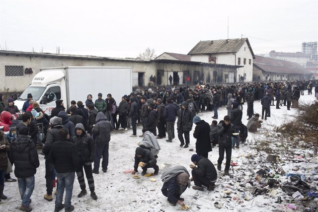 Refugiados e inmigrantes en Belgrado